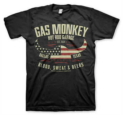 Gas Monkey Garage American Viking Helmet Hot Rod Werkstatt Männer Men T-Shirt