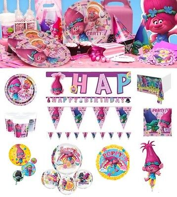 NEW Trolls Party Items Supplies Tableware Decorations Sets Plates Napkins Cups