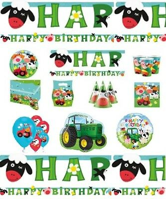 Farm Fun Birthday Party Supplies Decorations Tableware Farm Animal Favours Sets