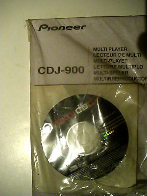 Pioneer CDJ900 Professional DJ CD/MP3/WAV USB Player Turntable instructions 2cd