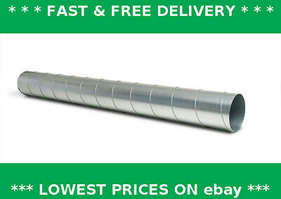 Spiral ducting 1mtr long (1 off ), ventilation, extraction, hydroponics, stove