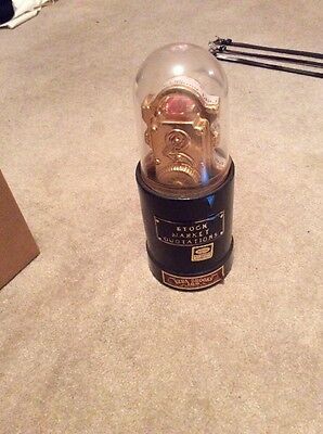 Ezra Brooks Stock Market Ticker Decanter 1970 NYSE Quotation 24k Gold Trim Nice