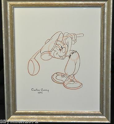 "M1107-Disney""1941"" Canine Caddy Original Story Sketch 11x13 without Swoosh"