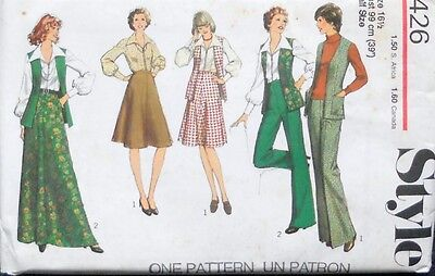 Style Sewing Pattern for Women 1426 Skirt, Cardigan, Blouse & Trousers Size 16.5