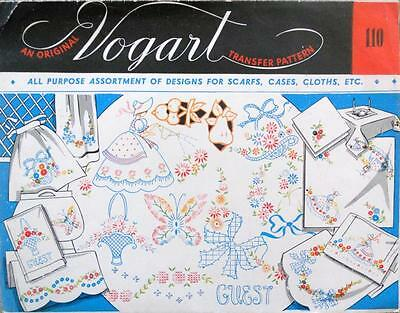 VOGART Embroidery Transfer 110 Assorted Designs..Scarfs, Cases, Cloths etc...