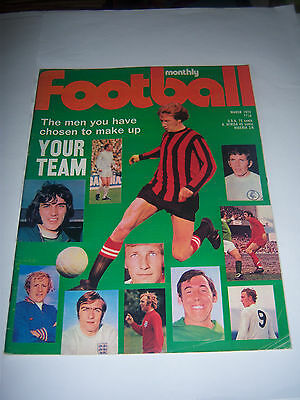 Football Monthly Magazine - March 1972 #247 - Manchester City / Birmingham City