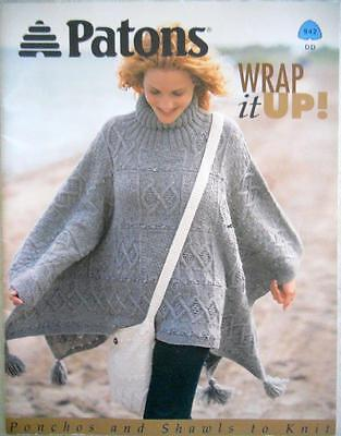 Patons Wrap It Up! 942Dd ~ Ponchos & Shawls To Knit Pattern Booklet