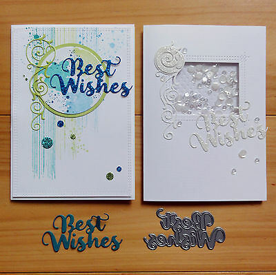 IMPRESSION OBSESSION BEST WISHES Sentiment Cutting Die - BNIP