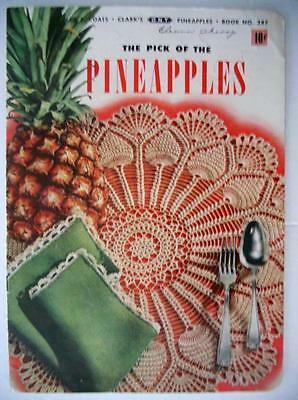 Pick of the Pineapples Coats & Clark's Book No 287 Vintage Crochet Patterns 1952