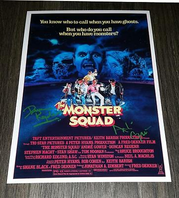 "The Monster Squad Pp Signed 12""x8"" A4 Photo Poster Andre Gower Duncan Regehr"