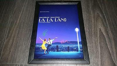 "La La Land Pp Signed Framed A4 12X8"" Photo Poster Lala Ryan Gosling Emma Stone"