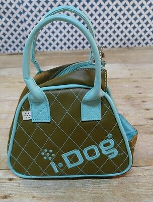 i-DOG Doggie Bag Carrying Case Purse Brown Blue Stitch Toy