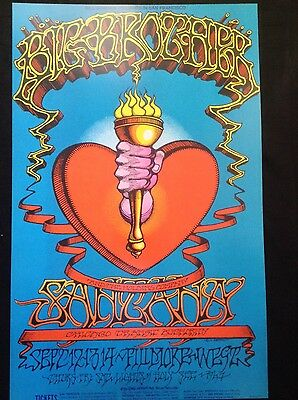 Big Brother/Santana/Chicago Fillmore Poster- 2nd pressing - limited to 500 -MINT