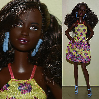 "Barbie 11.5"" EVOLUTION DOLL Christie Nikki AA Black Model Muse Dark for OOAK"