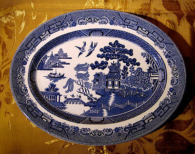 """Johnson Bros *willow* Oval Serving Platter 12"""" Made In England"""