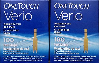2 NEW boxes sealed EXP 06/2018 100 ONE TOUCH VERIO TEST STRIPS