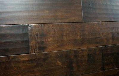 Engineered Distressed Birch Expresso Hardwood Floor Flooring Free Shipping