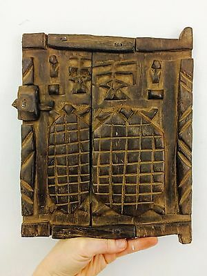 Antique African Dogon Turtle Carved Granary Door. Mali. Exquisite Wall Decor