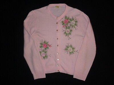 Vintage 50s 60s Kerrybrooke Sweater Beaded Size Small