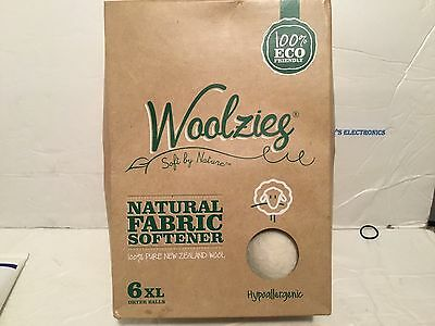 6pk Woolzies Wool Dryer Ball Natural Fabric Softener FREE N FAST SHIPPING