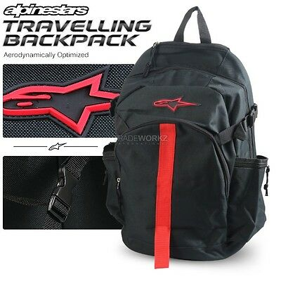New ALPINESTARS 30L Black Motorcycle Bike Travelling Camping Hiking Backpack Bag
