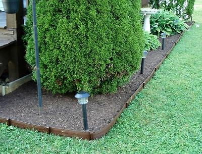 New Landscaping Lawn Edging 40 X 3 Brown Plastic Garden Border Gr Yard Edge