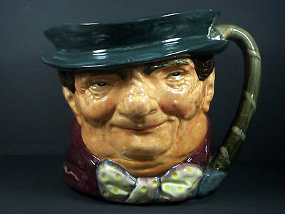 Genuine Vintage Royal Doulton Character Toby Jug Large / Tony Weller Marked A