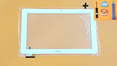 Weiß Touchscreen Digitizer Glas version 60 Pin komp. ODYS SPACE 10 Plus 3G