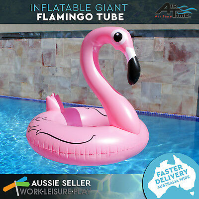 Inflatable Pool Float Giant Flamingo Swim Ring Tube Toy Summer 122x122cm Airtime