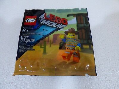 Lego Western Emmet The Lego Movie Exclusive Figure Factory Polybag  5002204 #E4