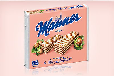 Manner Wafer Hazelnut 75g x12
