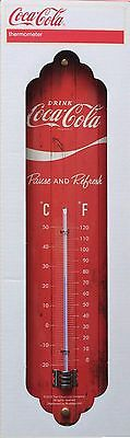 Thermometer Coca Cola Red - Protected Product - 26 x 8 cm