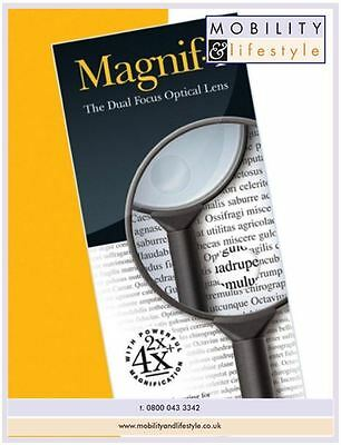 Magnif-i Dual-Focus Powerful Magnifying Glass With Rubber Handle (65mm)