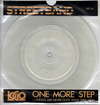 """Streetband - Paul Young -  One More Step - 7"""" Clear Vinyl Single"""