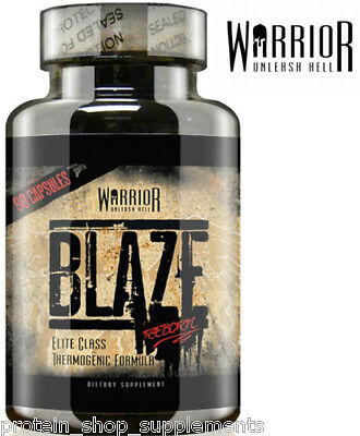 WARRIOR BLAZE Strong Fat Burner Energy Booster Diet Pre Workout Reborn - 90 CAPS