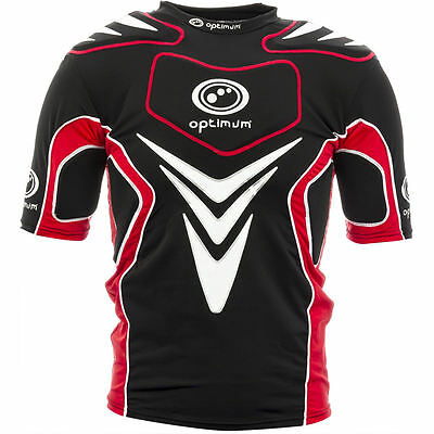 New Optimum IRB APPROVED Blitz Rugby Union Shoulder Pads c/w 7 pads in Red