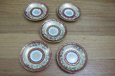 Five Small Plates Paragon Fine Bone China HM The Queen & HM Queen Mary Made in E
