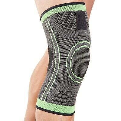 Actesso Green Knee Support Sleeve - Sprain - Football Gym Running Sport Injury