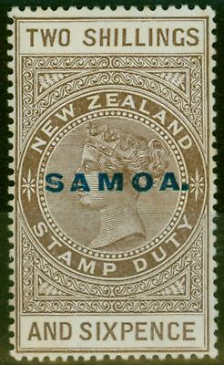 Samoa 1924 2s6d Grey-Brown SG128 De La Rue P.14.5 x 14 Comb Fine Lightly Mtd