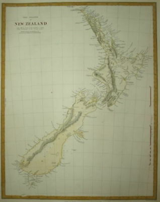 The Islands Of New Zealand Circa 1844. Sduk