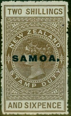 Samoa 1928 2s6d Dp Grey-Brown SG166 Cowan P.14.5 x 14 Fine & Fresh Lightly Mtd