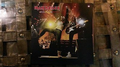 iron maiden real live in milano 2LP COLOURED SPECIAL POSTER/SLEEVE + PLAYBILL