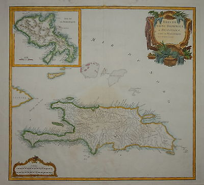 Islea De Saint Domingue Ou Hispaniola Et De La Martinique..de Vaugondy.....1750