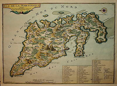 Isle De La Martinique By Nicolas De Fer Published 1704.
