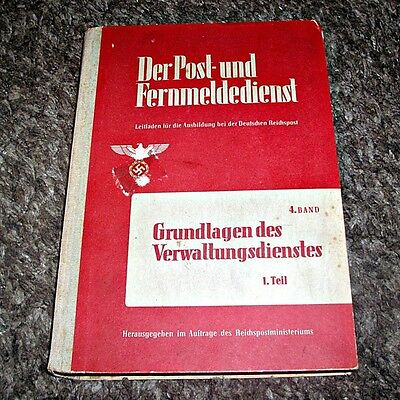 Original c.1942 German WWII Official Postal Service Book. Private Purchase Only.