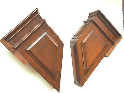 Pair of Antique Mahogany Corbels Accent Pieces