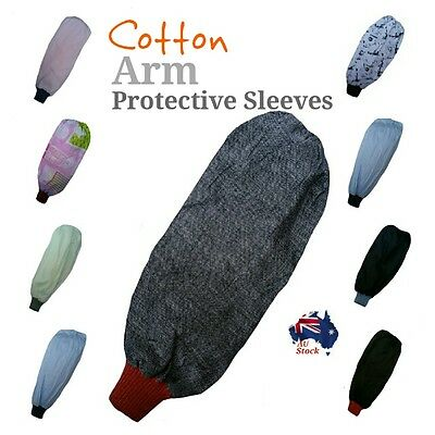 1 pair of cotton arm protective sleeves elastic cuff painting gardening cleaning