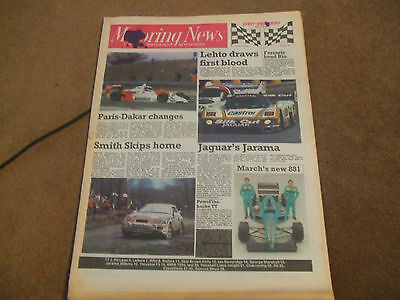 Motoring News 16 March 1988 Skib Brown Rally Jarama 360kms Ian Beveridge