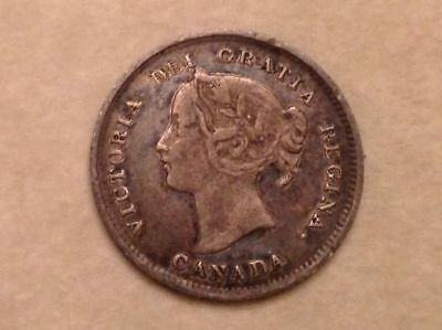 - Scarce Canada 1894 Five 5 Cents Victoria - Only 50,000 Minted