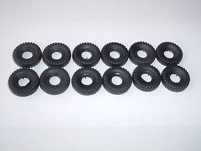 12 New Dinky 20Mm Black Block Tread Replacement Tyres Offer 5
